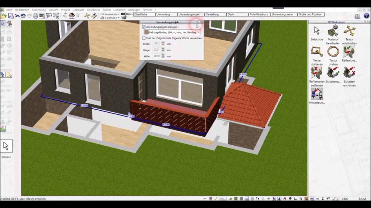 Balkon Planen Mit Dem Plan7architekt Youtube