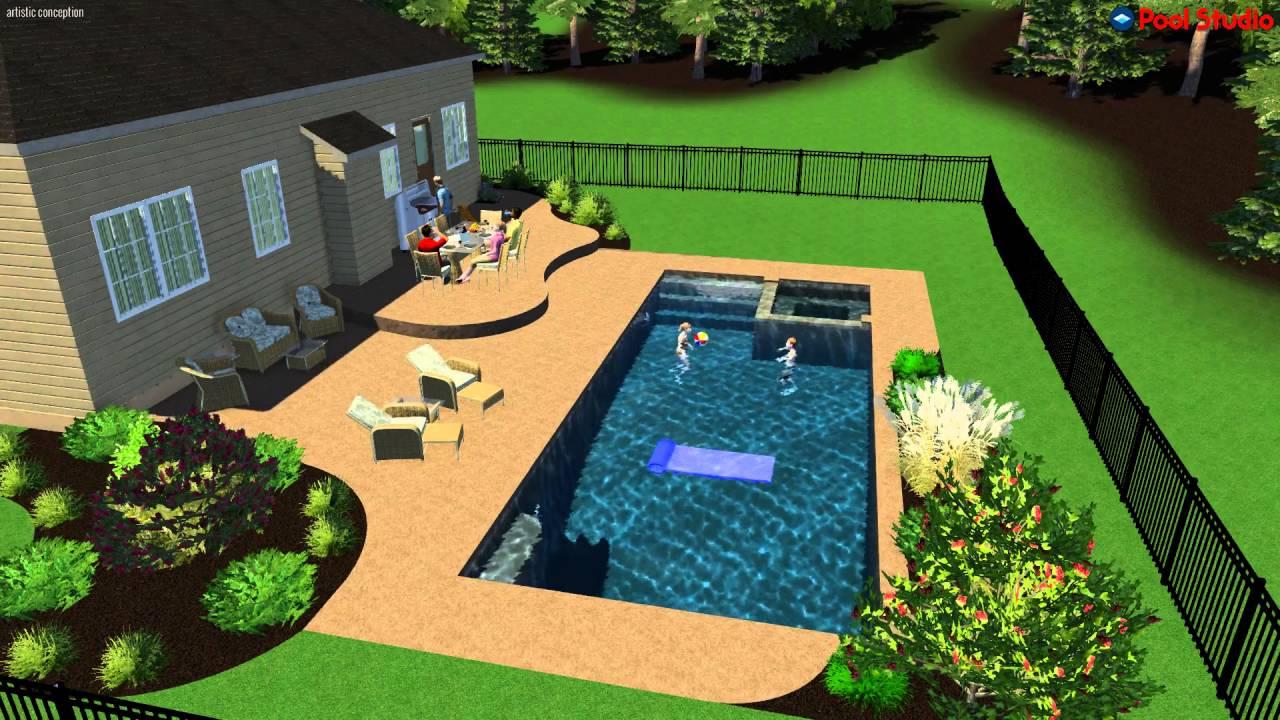 3d Salt Water Pool Design By Monogram Custom Pools In Lehigh And Bucks  County, PA