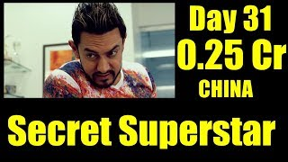 Secret Superstar Box Office Collection Day 31 CHINA
