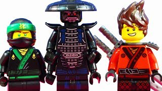 The Lego Ninjago Movie Minifigures Complete Set + Green Ninja Lloyd Garmadon Master Falls Set 70608