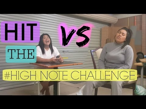 HIT THE HIGH NOTE CHALLENGE! *RE-MATCH*