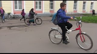 На работу на велосипеде. Великий Новгород