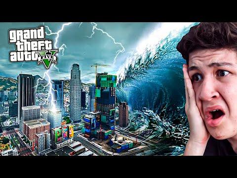 ¿Qué PASA si Hay un TSUNAMI en GTA 5? Grand Theft Auto V - GTA V Mods