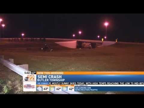 Semi Goes Airborne During Crash on I-75