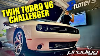 Twin Turbo V6 Dodge Challenger On The Dyno!