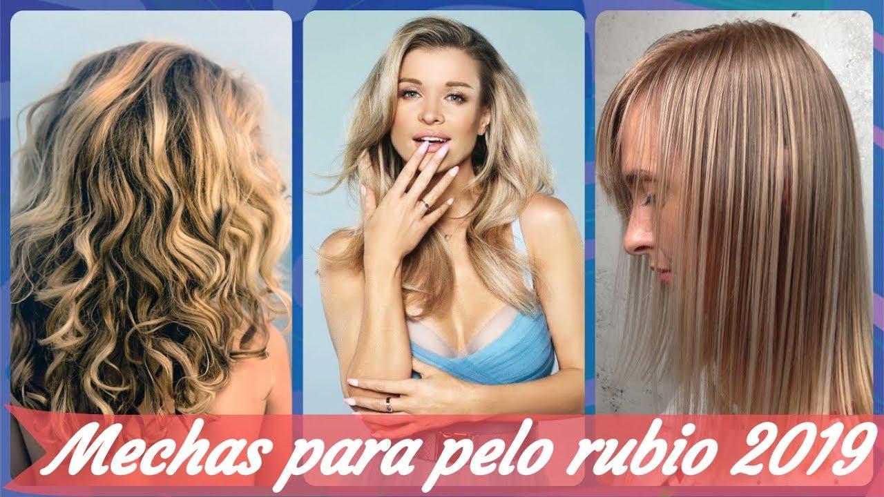 20 Modelos De Mechas Platinadas En Cabello Rubio 2019 Youtube