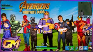 Avengers Kids - Fortnite Duos In Real Life!!