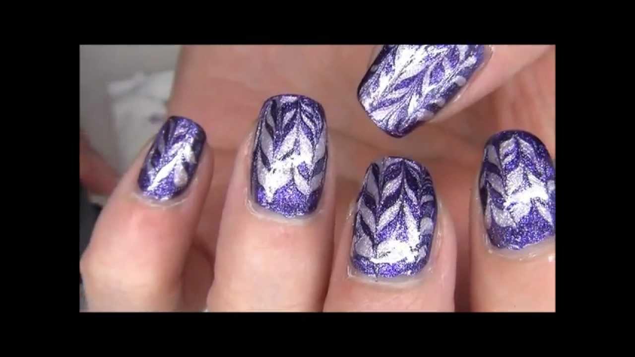 Tuto nail art d butant l 39 effet millefeuille par chez youtube - Nail art debutant ...