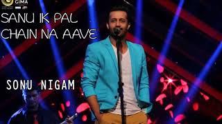 Sanu Ek Pal Chain   Atif Aslam Live