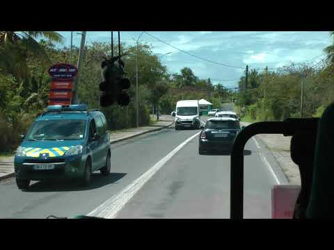 driver view narrated Viking bus ride on Guadeloupe from Pointe à Cabrits to Sainte-Anne (1 of 2)