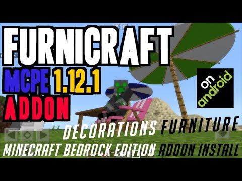 How To Get Furniture In MCPE 1.12.1 - Download & Install Furnicraft Addon 1.12.1 (on Android)