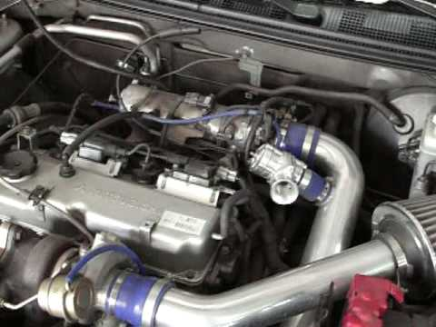 2001 Mitsubishi Lancer Td04 Kit Youtube