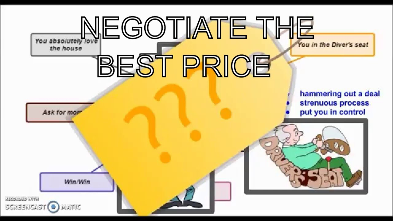 how to negotiating tips to get the best price for a home youtube