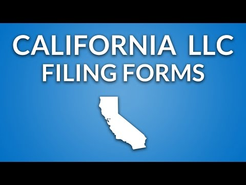 California LLC - Formation Documents