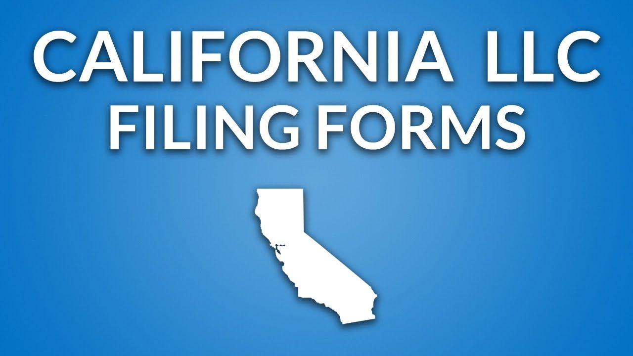 California LLC - Formation Documents - YouTube