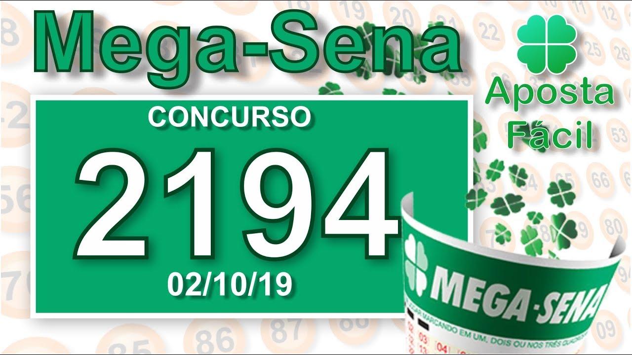 RESULTADO MEGA SENA Concurso 2194