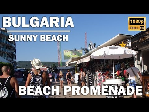 Amazing walk along the promenade in Bulgaria, Sunny Beach (Slanchev Bryag) Food / Original Fake [HD]