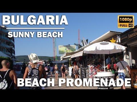 Amazing walk along the promenade in Bulgaria, Sunny Beach (Slanchev Bryag) Food / Original Fake