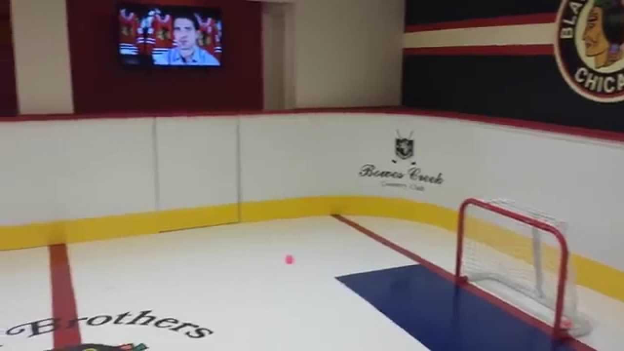 basement hockey rink youtube