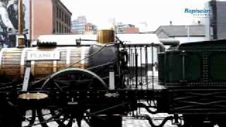 watch the rapiscan eagle m60 scan an antique train engine at the museum of science and industry