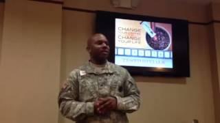 U S Army Staff Sgt  Matt drinks Javita Weight Loss Coffee