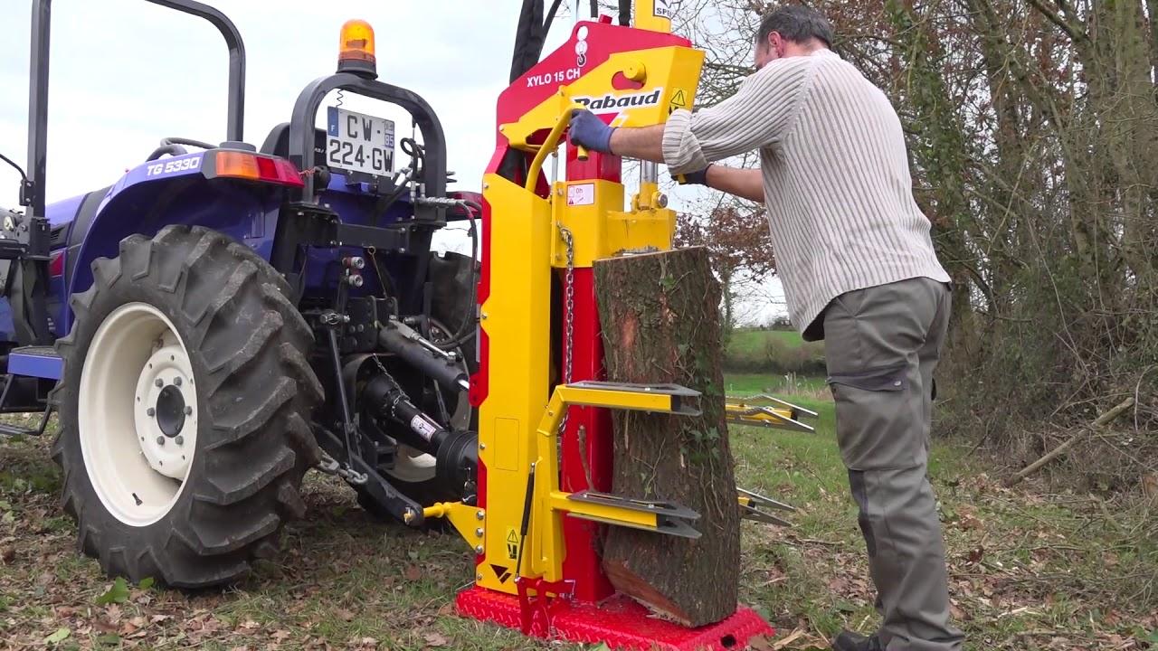 Fendeuse Microtracteur Tracteur Xylo Rabaud