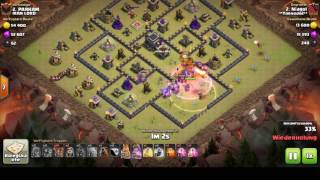 Clash of Clans   GoBoHoLaLoon mit schwachen Helden rh9,5 / Nice GoBoHoLaLoon with low heros th9,5.