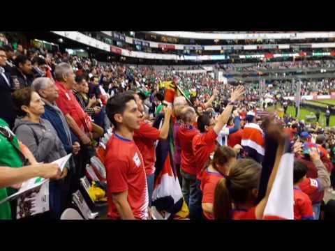 Inicio juego México 2 - 0 Costa Rica (Estadio Azteca)