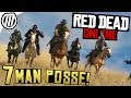 Red Dead Online: BIG POSSE FREE-ROAM! - PVP & PVE Gameplay