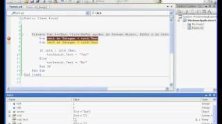 Visual Basic / Visual Studio Video Tutorial - Basic Debugging