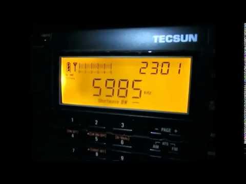 5985 Khz, Myanmar Radio, Naypyidaw, signing on