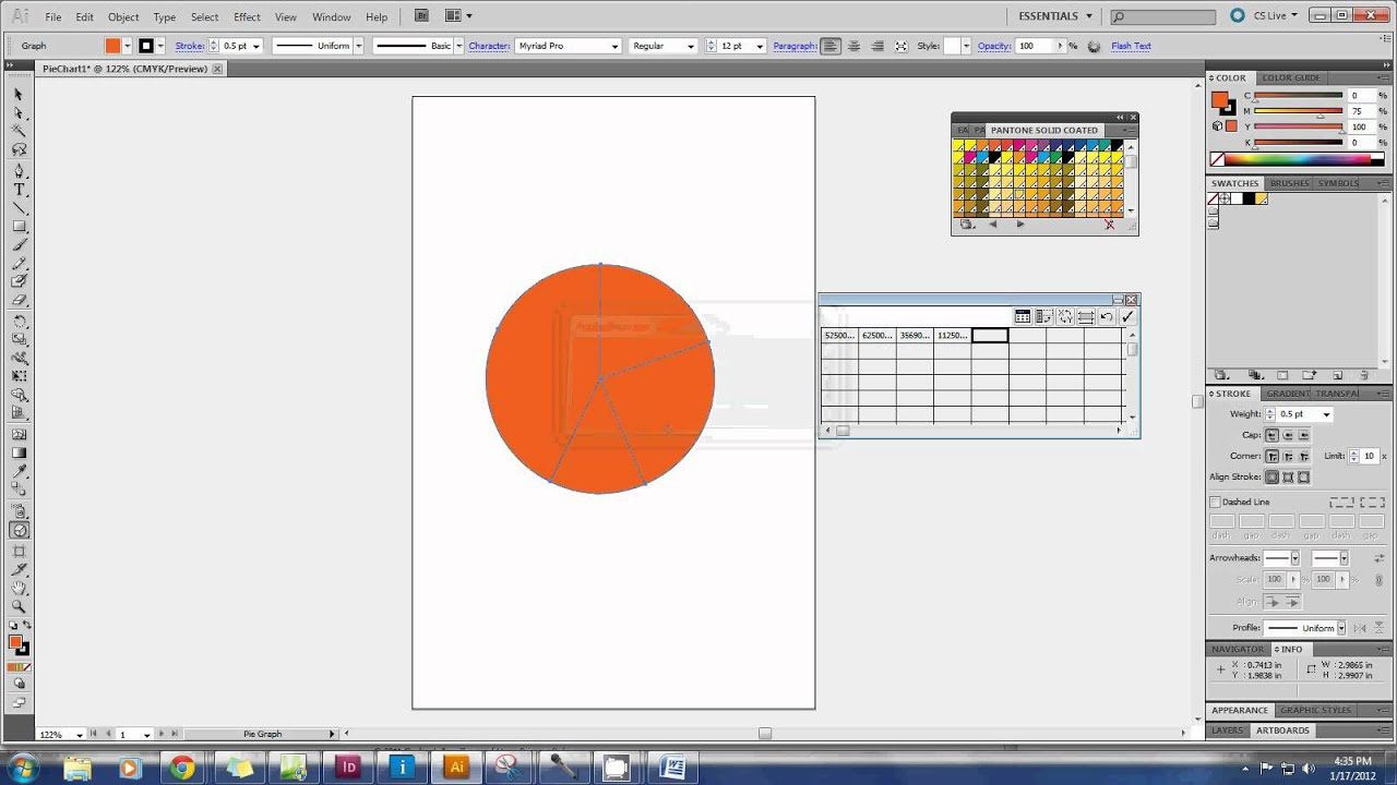 Creating A Pie Chart In Adobe Ilrator