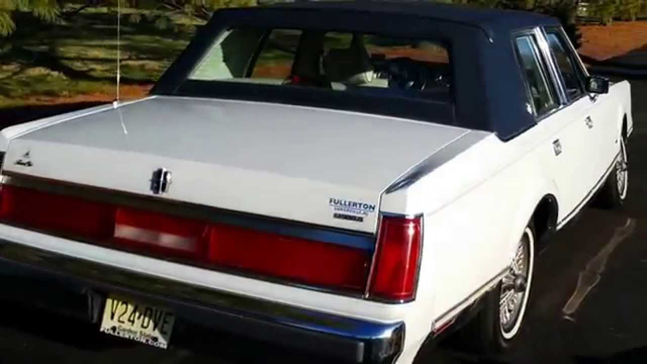 1987 Lincoln Town Car Youtube