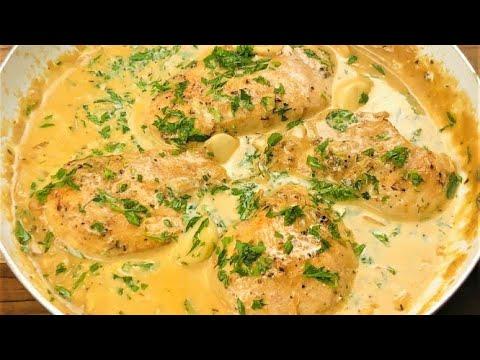 Creamy Garlic Chicken Recipe | Very Juicy One Pan Chicken with Garlic Sauce