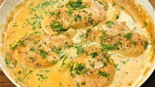 Creamy Garlic Chicken Recipe  Very Juicy One Pan Chicken with Garlic Sauce