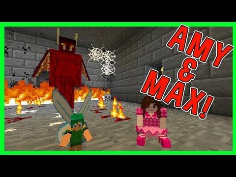 Amy & Max! Ep.35 JINX & DORIS'S SLEEPOVER!   Minecraft   Amy Lee33