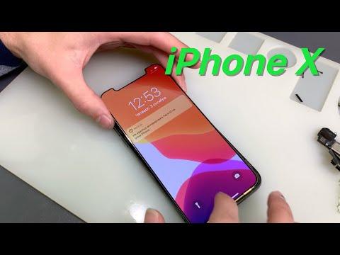 iPhone X LCD glass repair  - замена стекла дисплея