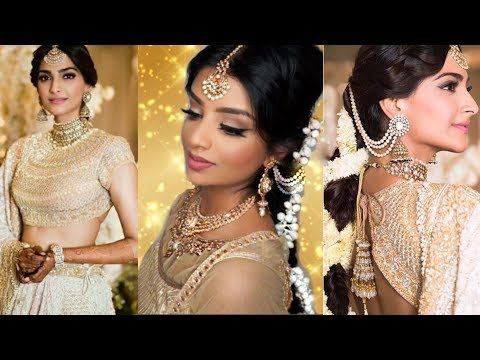 Sonam Kapoor Sangeet Wedding Makeup & Hairstyle