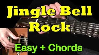 JINGLE BELL ROCK: Easy Guitar Lesson + TAB + CHORDS by GuitarNick