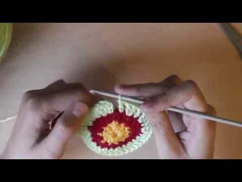 Круглый чехол на табурет: правило вязания круга - 1