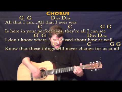 Chasing Cars (Snow Patrol) Strum Guitar Cover Lesson in G with Chords/Lyrics