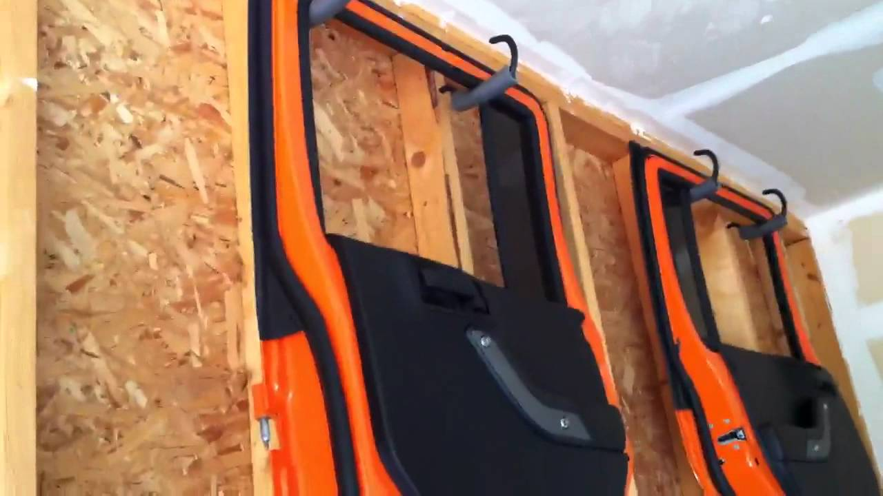 Jeep top and doors stored away - YouTube
