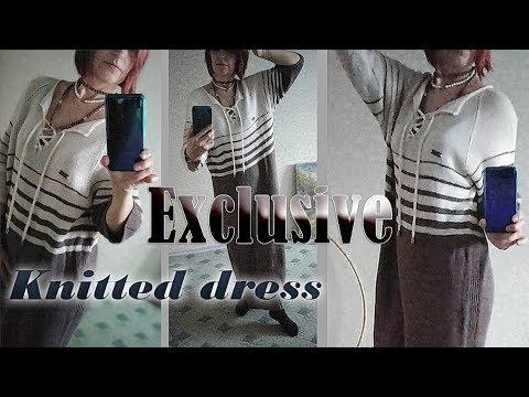 """Вязаное платье  в стиле """"Oversize"""" / Оригинальная модель без швов и заморочек."""