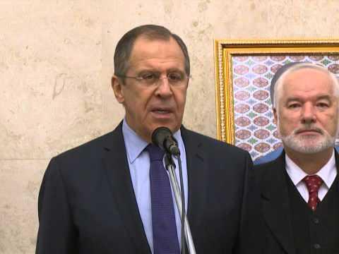 С.Лавров на церемонии открытия нового комплекса зданий Посольства России в Ашхабаде
