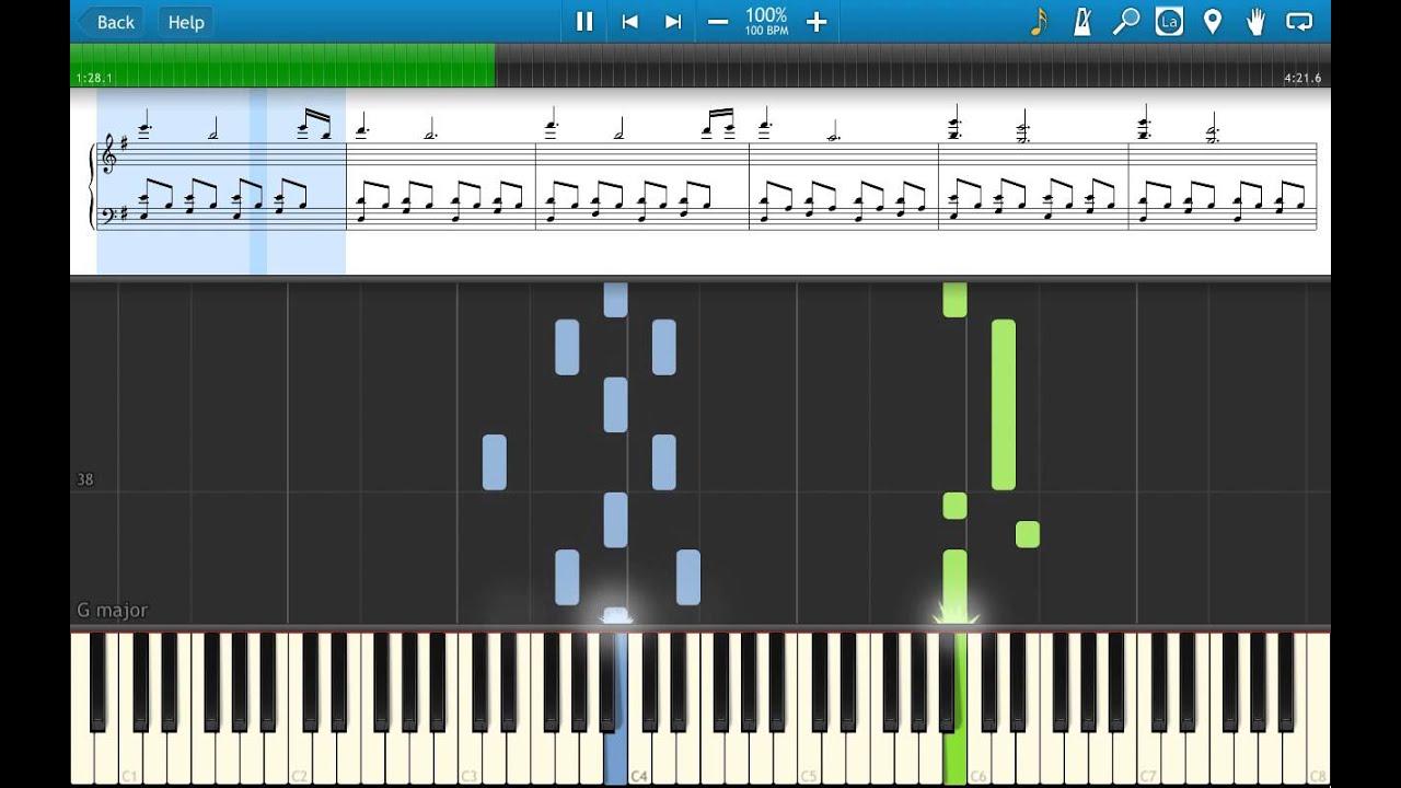 Yann Tiersen Comptine Dun Autre été Large Version Piano Tutorial Synthesia