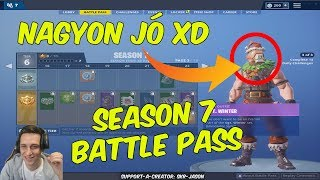 FORTNITE SEASON 7 BATTLE PASS REACTION * I LOVE IT *