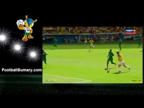 2014 World Cup Colombia 2 - 1 Ivory Coast all Goals and Highlights