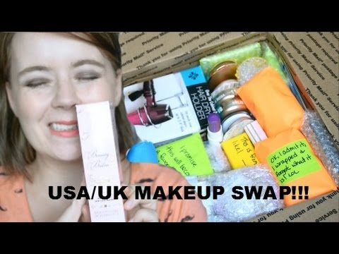 USA/UK MAKEUP SWAP WITH LAURA ¦ UNBOXING