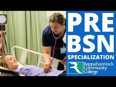 The new Pre-BSN Specialization at Rappahannock Community College