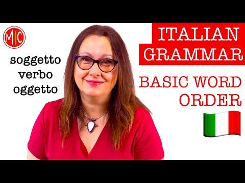 How to build a sentence in Italian   LEARN ITALIAN GRAMMAR